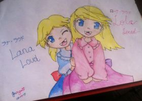 Adorable Opposites: Lana and Lola Loud by JTrexe