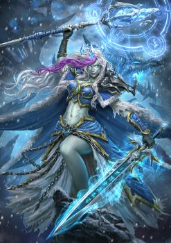 Frost Lich Jaina by Ze-l