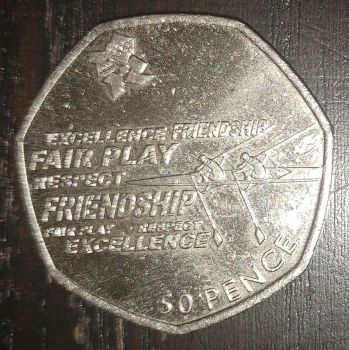 2011 British fifty pence coin (side A) by AdrenalineRush1996