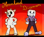 [Cuphead AU] HornHead: Don't deal with the cupbros by LeoLevahn
