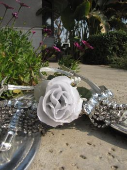 Linneus's Flower- Silver Shoes by Genesis-ZEO