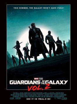 New Guardians of the Galaxy Vol. 2 IMAX Poster Art by Artlover67
