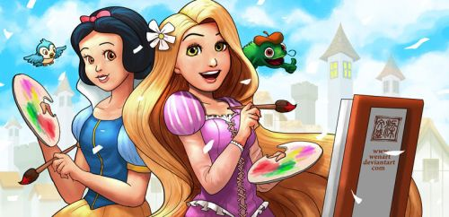 Princess in their artistic mood by Wenart