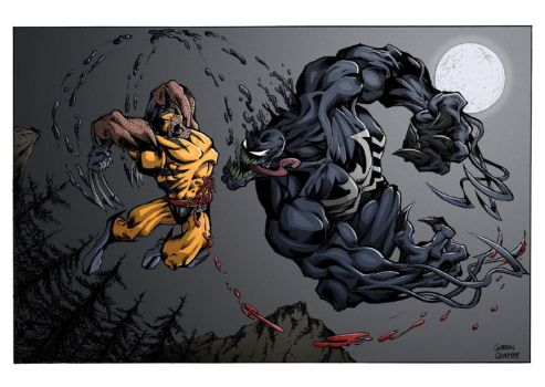 Wolverine Vs. Venom colored by GibsonQuarter27