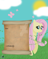 Poster for a friend Fluttershy Letter by SpiderZed
