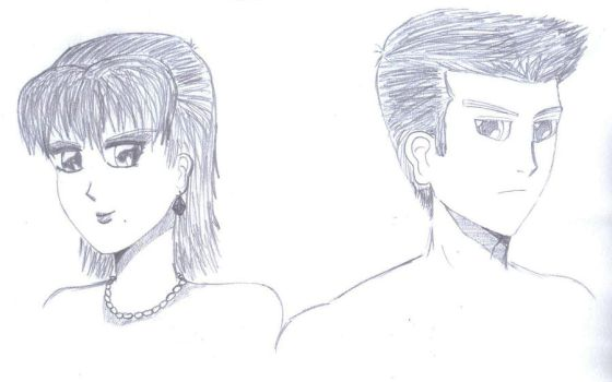 Male and Female Sketch by MGhareeb-Artist