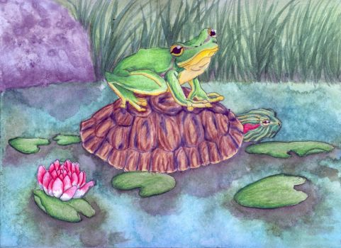 #61 Fairytale: The Frog and The Turtle by Wolfattwilight