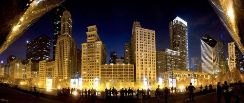 Michigan Avenue panoramic by sequential