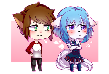 Jordan Sweeto and Wolfychu by fabuwhatsoeverfox