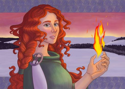 Brighid at Imbolc by christiepatel