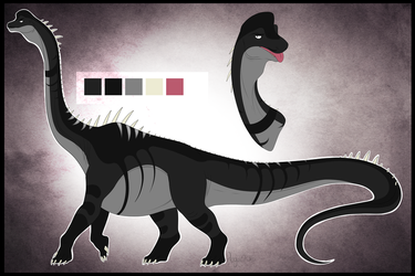 Duke the Brachiosaurus reference 2016 by SaviorKing