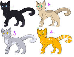 Cat Adoptables 6 OPEN by Spiritpie