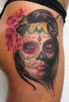 day of the dead tattoo by graynd