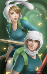 Finn and Fionna by TheJasminator