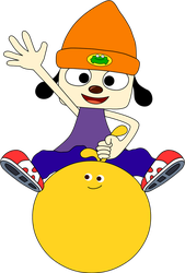 PaRappa Riding on top of Kulche by Gawain-Hale