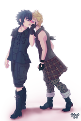 FFXV Noct and Prompt - Best Friends by Jiubeck