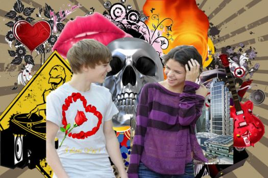 justin and selena png by digitallive