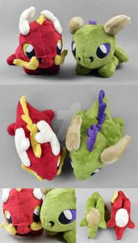 Dragon Plushies by SewDesuNe