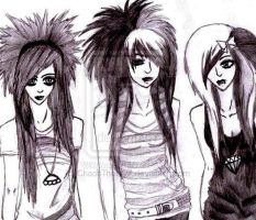 Emo Girls by MaddChaos