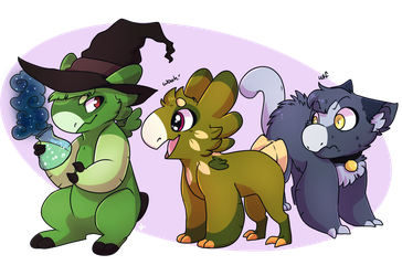 Puffs and Potions by Shady-Raichu