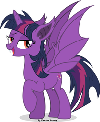 Twilie-bat by Vector-Brony