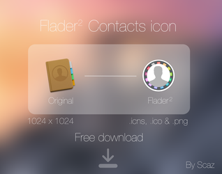 Flader 2 : contacts icon by scafer31000