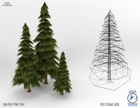 Low Poly Pine by TheSnowMouse