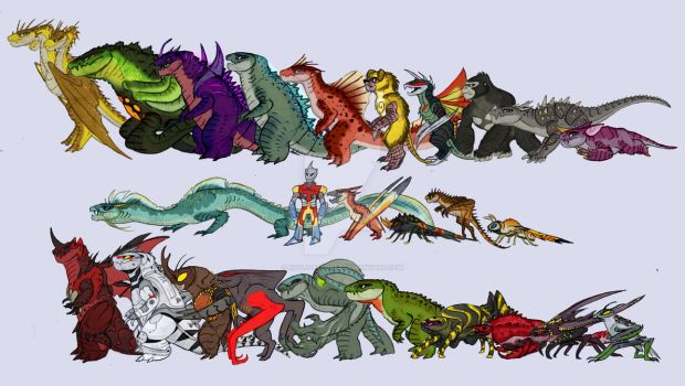Legendary Kaiju Lineup by RoFlo-Felorez