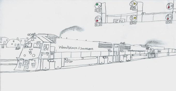 Woodstock and Southern HSD-9i #1241 by Tracksidegorilla1