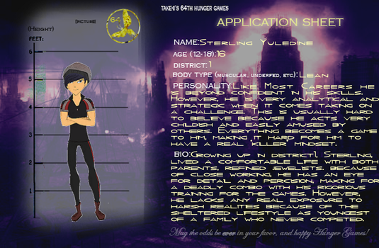 64th Hunger Games Application - Sterling by PufferMonkey