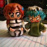 Orihime Inoue and Nel Tu clay figurines by All-shall-fade