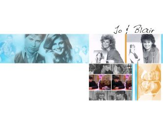 Jo and Blair Wallpaper by geekyspaz