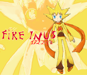 Fire Inus Artwork by Utakoloid