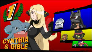 The winner is... Cynthia and Gible!