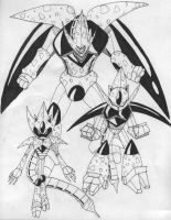 Metal Sonic as Cell by Gojira007