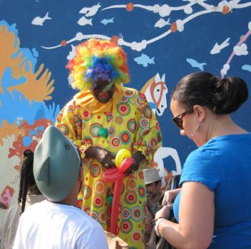 Clown on Coney Island by Kyence