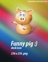 Funny Pig dock icon by OlegZodchiy