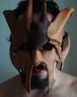 Leatherface Dragon Mask Front by Epic-Leather