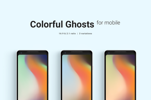 Colorful Ghosts Mobile Wallpaper by dpcdpc11