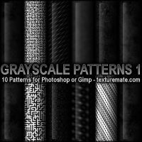 Grayscale Patterns 1 by AscendedArts