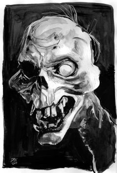 Deadite - Inktober 2015 day 19 by ChuckRamos