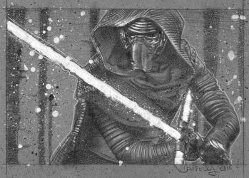 Kylo Ren - The Force Awakens Drawing by JeffLafferty