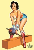 Wonder Woman Pin Up by thomsolo