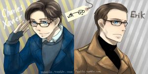 XMFC: Men in glasses by waterylt