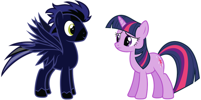 Request: Spark Storm and Twilight Sparkle by delectablecoffee