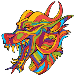 Psychedelic arcanus sticker by Velkss