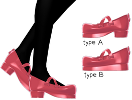 cross ribbon shoes v2.00 by razrRjunko