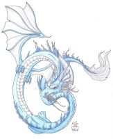 Oriental Ice Dragon by Scellanis