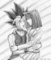 Commission for SamCyberCat: Yugi and Anzu by Yamigirl21