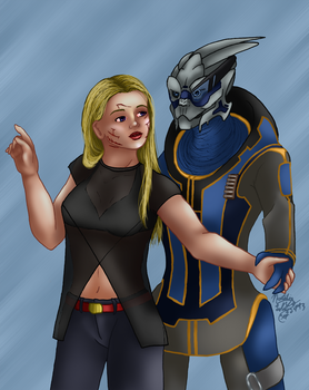 Mass Effect - Shakarian - Citadel Date by AniDragon